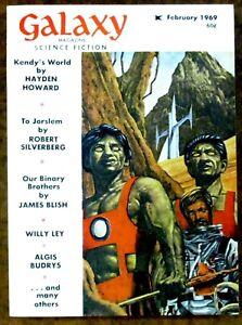 """Galaxy"" Science Fiction (February 1969) ~ Magazine ~ Dick - Blish - Budrys"