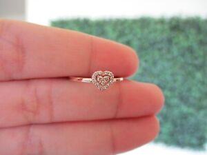 """.10 CTW Diamond  Ring 18k Rose Gold R96 sep """"V"""""""