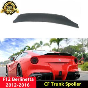 F12 Trunk Spoiler Carbon Fiber DMC Wings for Ferrari F12 Berlinetta 2012-2016