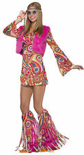 Adult Hippie Fur-Ever Groovy Go Go 60s 70s Costume
