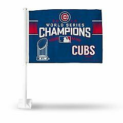Chicago Cubs World Series Champs Car Flag