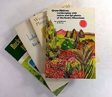 Lot (4) ROCKY MOUNTAIN PLANTS Edible Wild Grow Native Horticulture Nature Native