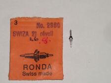 Swiza balance staff 21 réveil clock (ht.844) Unruhwelle Ronda 2960