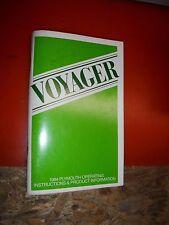1984 Plymouth Voyager Mini Van Original Factory Operators Owners Manual