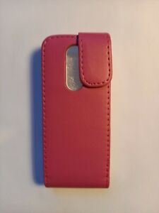Vertical style PU leather flip phone case, cover to fit Nokia 108 (2013) - Pink