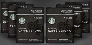 Starbucks Verismo Caffe Verona Dark Roast Brewed Coffee Pods 72-Ct BEST BY 4/21