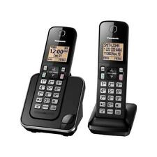Panasonic KX-TGD382 Cordless Phone System with 2 Handsets - Black