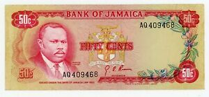 Jamaica  … P-53 … 50 Cents … L.1960 (1970) … Choice *VF-XF*.