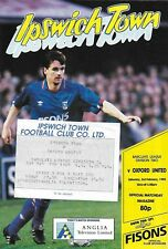 Football Programme plus Ticket>IPSWICH TOWN v OXFORD UNITED Feb 1990