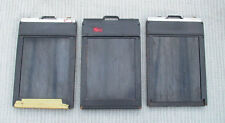 2 Vintage Graflex 3 1/4 x 4 1/4 Wood Cut Film Holders