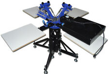 3 Color 4 Stations Screen Printing Equipment with Flash Dryer 2in1 Press Printer