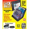Lock Slim Wallet Secure Men Women RFID Blocking Money-Credit Card Holder Wallet