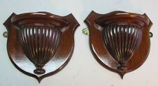 Fine Pair of Mid-19th C. American Regency Carved Wall Shelves  c. 1860  antique