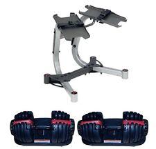 Bowflex SelectTech Adjustable 552 Pair (2) of Dumbbells + Bowflex Stand