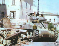 WW2 Color Photo WWII M4 Sherman Tank in Italy  World War Two US Army Europe