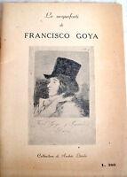 1949 CATALOGO DELLE ACQUEFORTI DI FRANCISCO GOYA COLLEZIONE DI ANDRES LASZLO