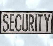 SECURITY BLACK UNIFORM COSTUME TACTICAL BACK PANEL VELCRO® BRAND PATCH 3.14  USA