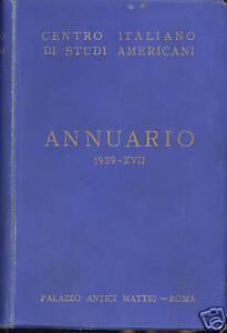 Annuario Centro Italiano di studi americani 1939