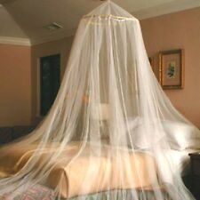 WHITE HOOP BED CANOPY MOSQUITO NETTING NEW TWIN - QUEEN FREE SHIPPING FROM USA