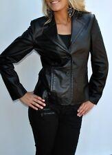 New Womens Nine West Leather Jacket Medium 100% Genuine Leather Black Medium