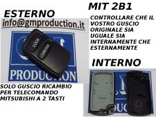 SOLO GUSCIO COVER CON TASTI PER TELECOMANDO A 2 TASTI MITSUBISHI PAJERO E ALTRE