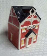 ceramic school house canister