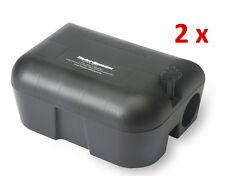 2 x Rattenfalle Köderbox Rattenbox für Rattengift Mäusegift zur Rattenbekämpfung