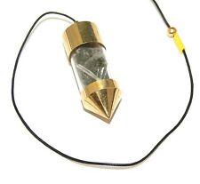 Moldavite Tektite and Singing Crystal Quartz Pendulum Dowsing Tool