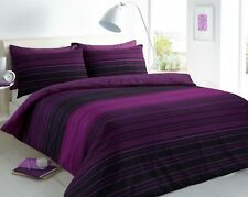 Single Texture Stripe Luxury Duvet Covers Quilt Cover Reversible Bedding Sets