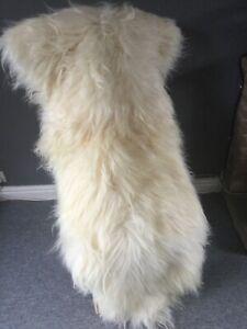 Double Merino large long haired sheepskin rug