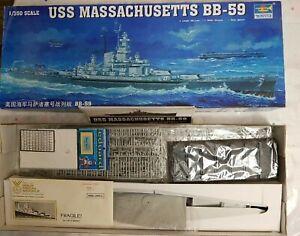 TRUMPETER 05306 USS MASSACHUSETTS BB-59 1/350 SCALE KIT w/ GOLD MEDAL MODELS PE