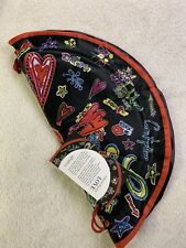 Brighton NWT Love Scribble Jewelry Pouch Cinch Organizing Travel Red Black
