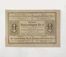 RICHTERS BAUVORLAGEN HEFT NR. 4 ANKER STEINBAUKASTEN ARCHITECTURAL MODELS 1900