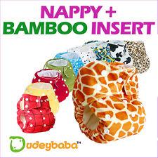 Dudeybaba Reusable Pocket Real Cloth Nappy Diaper Fleece or Bamboo Inner Layer