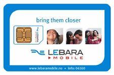 lebara mobile standard/micro sim card -- official pack . BUY 1 GET 1 FREE.