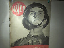 JOURNAL MATCH 07 03 1940 FRONTS DE GUERRE / LES Q G DES AVANTS POSTES