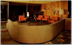 1950s LAS VEGAS Nevada Postcard HOTEL SAHARA Lobby Mid-Century Furniture Unused