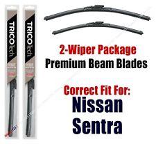 Wipers 2-Pack - Premium Beam Blades - fit 2007-2012 Nissan Sentra - 19260/19170