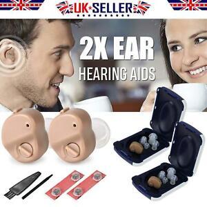 Invisible Mini In Ear Digital Hearing Deaf Aid Sound Voice Amplifier Enhancer 2X