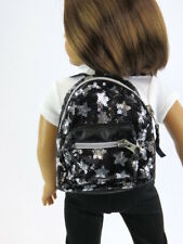 Black Star Sequin backpack for 14.5'' dolls,  by American Fashion World