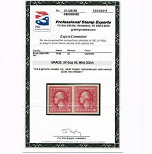 EXCEPTIONAL GENUINE SCOTT #534A MINT OG NH LINE PAIR PSE CERT GRADED XF-SUP 95