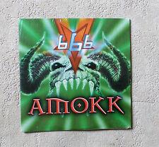 "666 ""AMOKK"" CD SINGLE 2 TRACK PANIC RECORDS / PODIS EUROHOUSE  CARDBOARD SLEEVE"