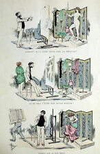 Artiste Peintre Modele Nu Caricature Gravure Ya des Dames Albert Guillaume
