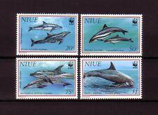 WWF NIUE Mi. 822-825** / MNH Meerestiere Delfine Dolphins