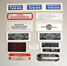 MG MGB GT 68 1969 Aufkleber Sticker und Platte Kit MGK2007 karosserieblech