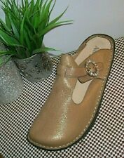 Alegria ALG-502 Metallic Bronze Leather Clogs Women's Size eu 42 us 11-11.5 new