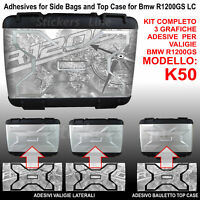 3 adesivi valigie vario BMW R1200GS Bussola Planisfero R 1200GS K50 dal 2013 GRG