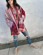 Indian handmade silk kantha Coat Reversible kimono summer wear jacket 10 pcs lot