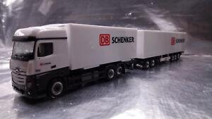 * Herpa 307864  Mercedes-Benz Actros Bigspace Eurocombi DB Schenker 1:87 Scale