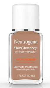 (1) Neutrogena Skin Clearing Oil Free Makeup 135 Chestnut EXP 07/19
